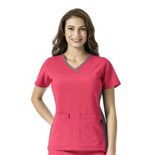 Carharrt Cross-Flex Mesh Detail V-Neck Scrub Top-