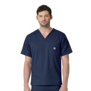 Carhartt Rugged Flex Men's Slim Fit 6 Pocket Scrub Top - C16418-Carhartt