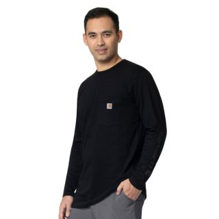 CHK Mens Crew Neck LS Graphic Pocket Tee-Carhartt