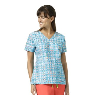 V6107 MAYA V-NECK PRINT TOP BY VERA BRADLEY