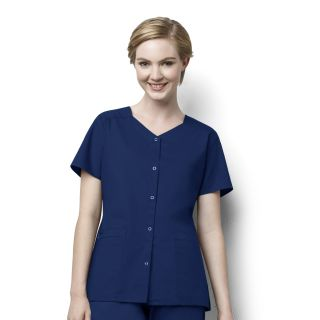 Wink 2 Pocket Snap Front Top-WonderWink