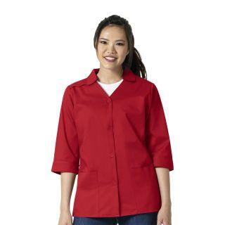 Wink 3/4 Sleeve Button Front Smock/Jacket-WonderWink