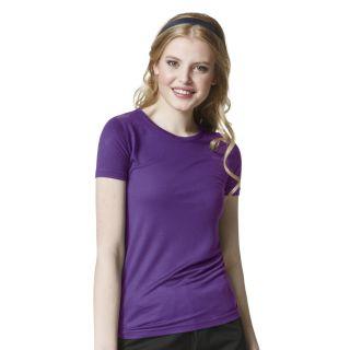 Slinky Knit Short Sleeve Tee-WonderWink
