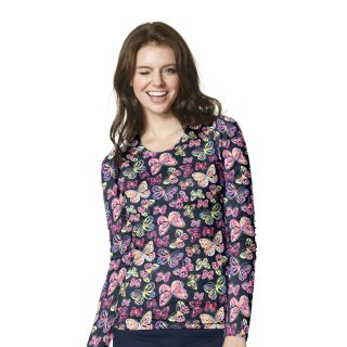 WonderWink Knits All-over Printed Tee Scrub Top-WonderWink