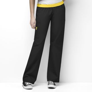 Womens Quebec Full Elastic Cargo Pant-WonderWink