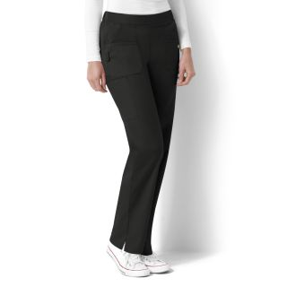 Flat Front and Back Elastic Pant-WonderWink