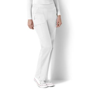 WonderWink Next Flat Front and Back Elastic Scrub Pant-