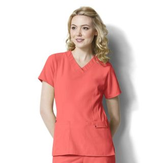WonderWink Easy Fit Contoured V-Neck Scrub Top-WonderWink