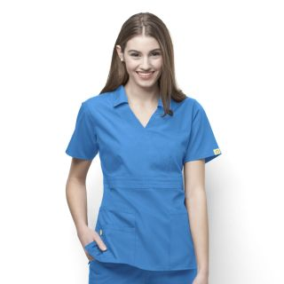 WonderWink Origins Echo Collared Scrub Top-WonderWink