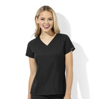 Womens Tech V-Neck Top-WonderWink