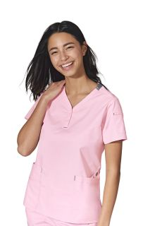 WFX Friendship Henley Scrub Top-WonderWink