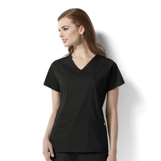 Charlotte - Womens V-Neck Top-WonderWink