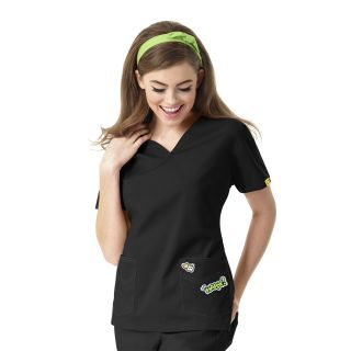 I Love WonderWink V-Neck Scrub Top-