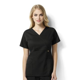 WonderWink Next Elizabeth Mock Wrap Scrub Top-WonderWink