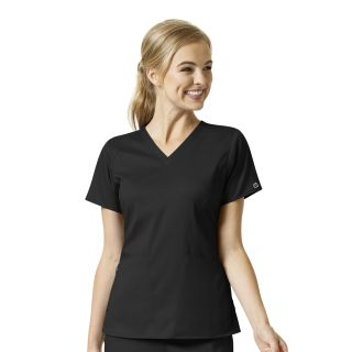 Womens 4 Pocket V-Neck Top-WonderWink