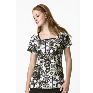 Printed 3-Pkt Square Neck Top-