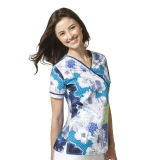 WonderWink WonderFlex Serenity Fashion Print Scrub Top-WonderWink