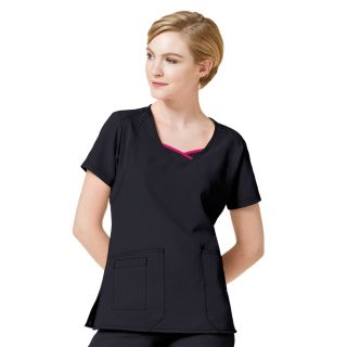 WonderWink Four Flex Stretch Curve-Centric Fashion Scrub Top-WonderWink