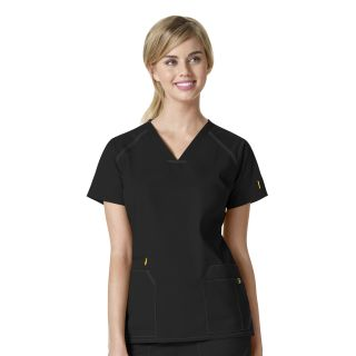 WonderWink 7Flex 6701 Womens V-Neck Scrub Top-WonderWink
