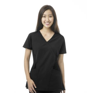 FFX Sport Mock Wrap Top Black-