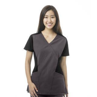 WonderWink Four Srtetch Flex Sport Mock Wrap Scrub Top-WonderWink