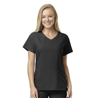 W23 Womens Mock Wrap Scrub Top-