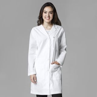 Womens Long Lab Coat-WonderWink
