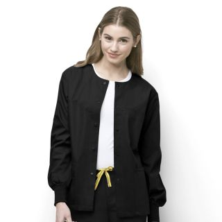 Womens Delta Cuffed Snap Front Jacket-WonderWink