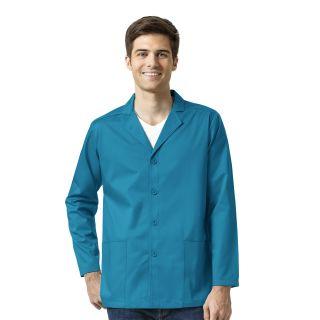 Wink Men's Blazer Style Scrub Jacket-WonderWink