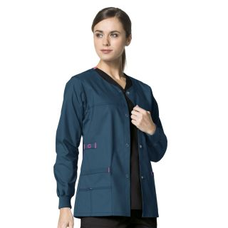 Wonder Flex Constance Womens Snap Jacket by Wink-WonderWink
