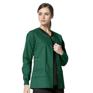 2 Pocket Snap Front Jacket by WonderFlex-WonderWink