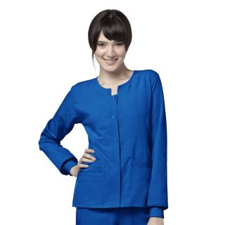 Classic 4 Stretch - Sporty Button Front Jacket by Wink-WonderWink