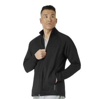 Mens Fleece Full Zip Jacket-WonderWink