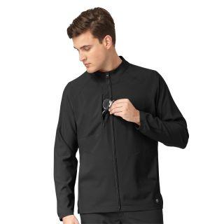 W23 Mens Zip Front Warm Up Jacket-WonderWink