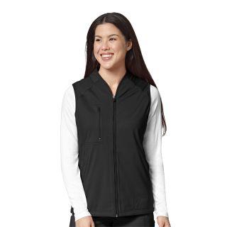 KNT Wmns Fleece Full Zip Vest Black-