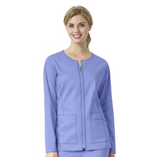 WonderWink  7Flex Womens Zip Front Scrub Jacket-WonderWink