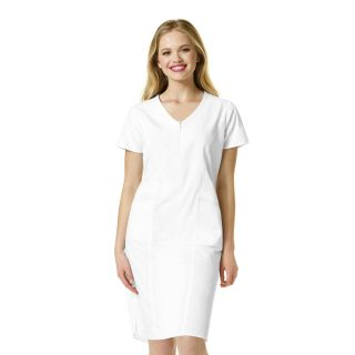 Womens Zip Front Dress-