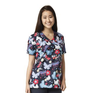 Z14202 Printed Wrap Top