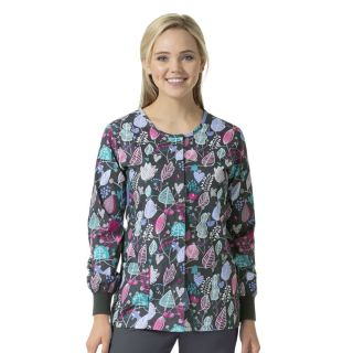 Zoe+Chloe Medical Jackets Printed Warm Up Jacket-Zoe+Chloe