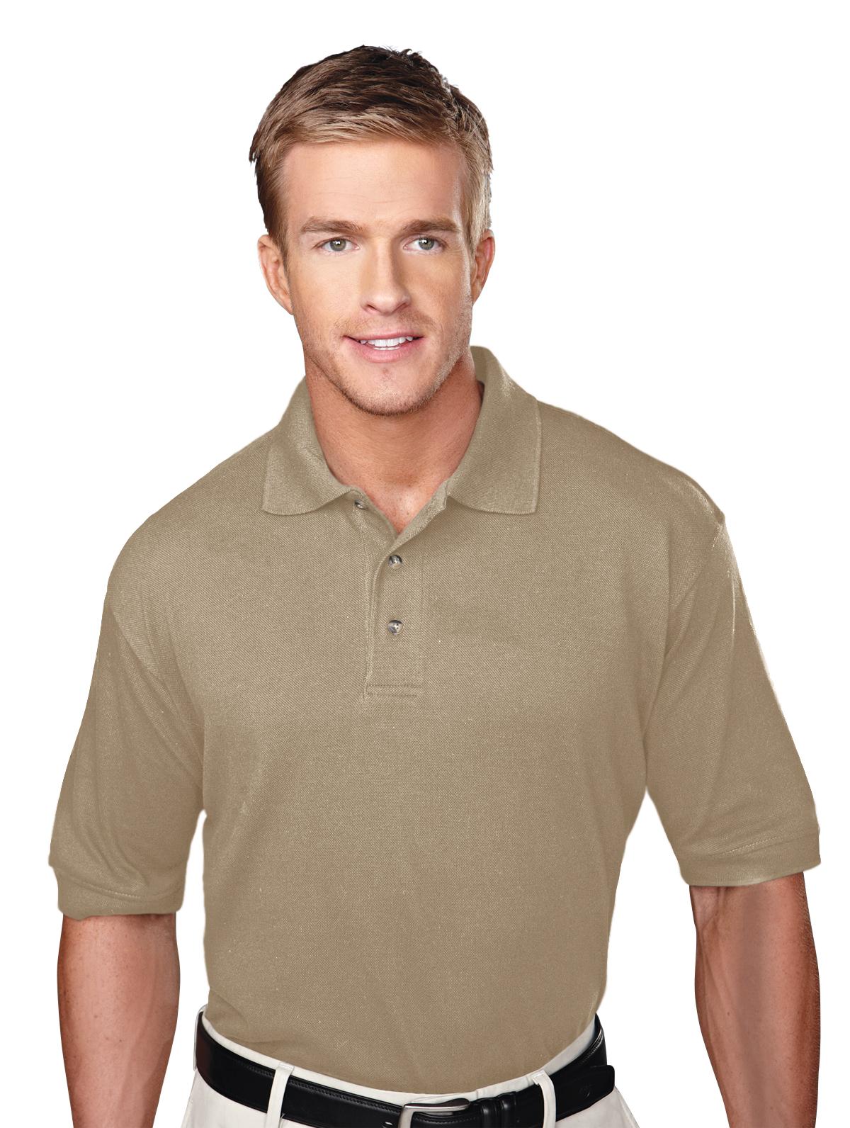 Profile-Mens 60/40 Pique Golf Shirt-Tri-Mountain