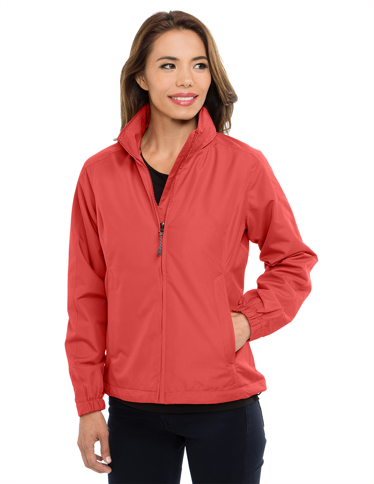 Navy Tri-Mountain 6013 Womens 100/% Polyester long sleeve jacket with water resistent 4XL