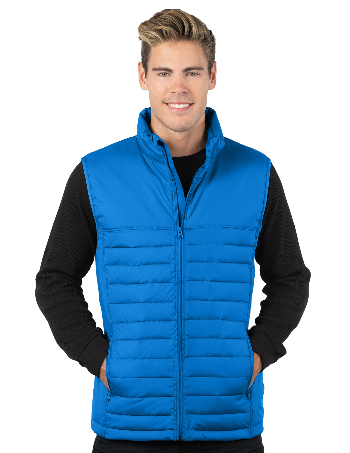 Canby Vest-Mens Quilted Puffer Vest-Tri-Mountain
