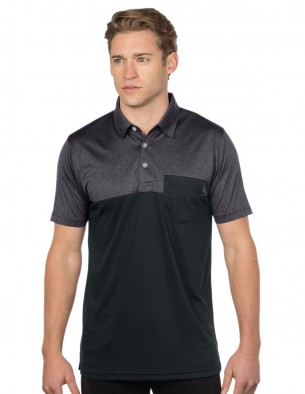 Galen-Mens Pocketed Colorblock Polo-