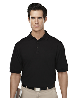 Sentinel-Mens Cotton/Poly 60/40 Knit Polo Shirt, w/ Mic Loops & Pen Pocket
