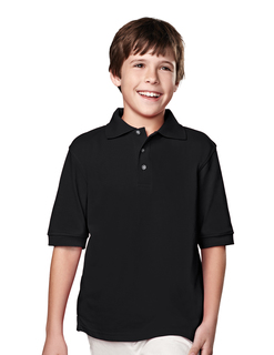 Element Youth-Youth 60/40 Short Sleeve Pique Golf Shirt-Tri-Mountain
