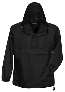 Navigator-Unlined Nylon 1/2 Zip Anorak Hooded Jacket