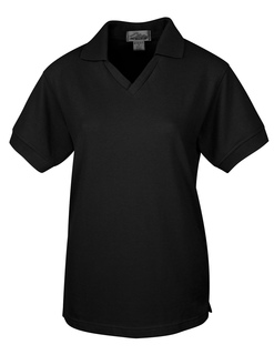 Venice-Womens 60/40 V-Neck Pique Golf Shirt-Tri-Mountain