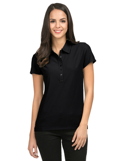 Stamina-Womens Poly Ultracool Waffle Knit Golf Shirt-