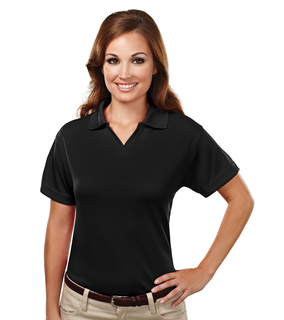 Ambition-Womens Poly Ultracool Mesh Johnny Collar Golf Shirt-TM Performance