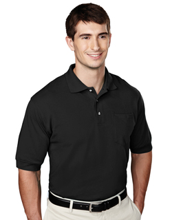 Image-Mens 60/40 Pique Pocketed Golf Shirt